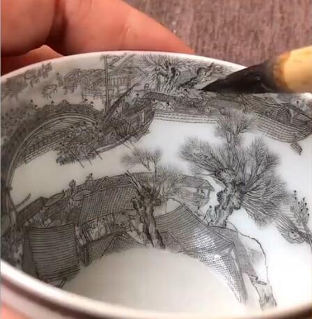 宝妈碗中画出清明上河图