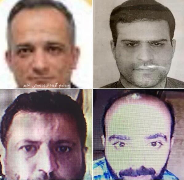 伊朗发布杀害核科学家4名嫌犯照片(图)